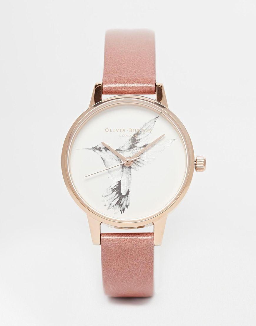 a729cca766 Olivia Burton | Olivia Burton Humming Bird Tan Leather Strap Midi Dial Watch  at ASOS