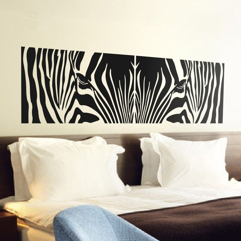 zebra print wall stickers