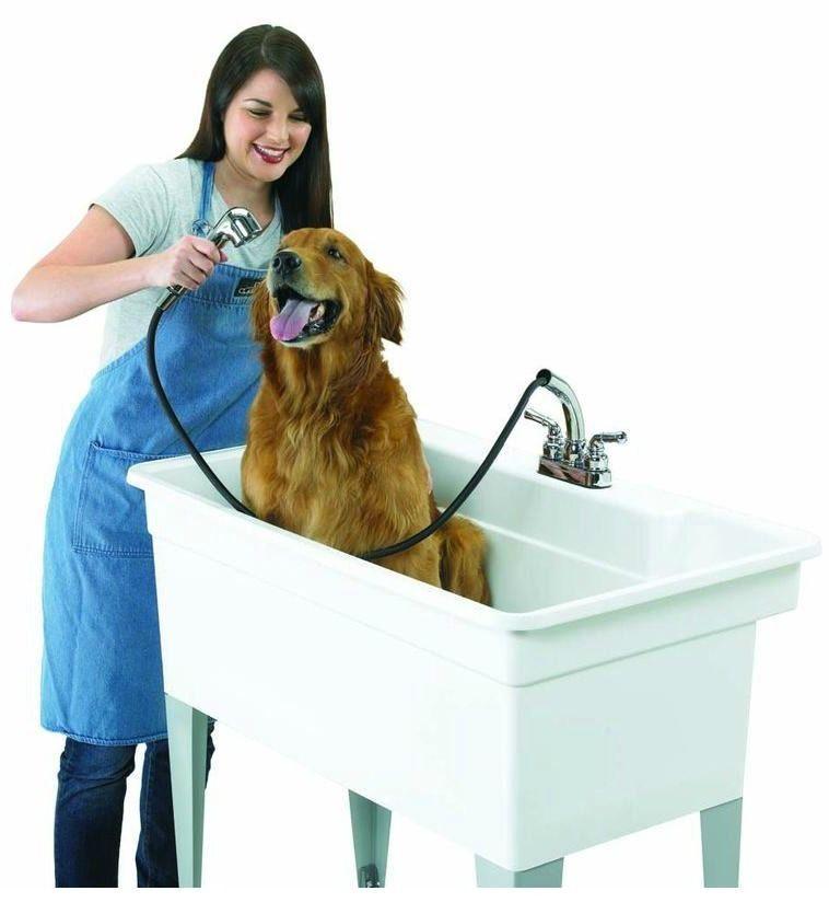 Utility Tub Large Pet Bath 24 X 40 Sink Basin Dog Wash Laundry