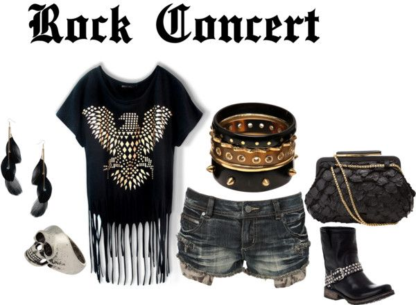 Rock Concert, created by karamel94 on Polyvore