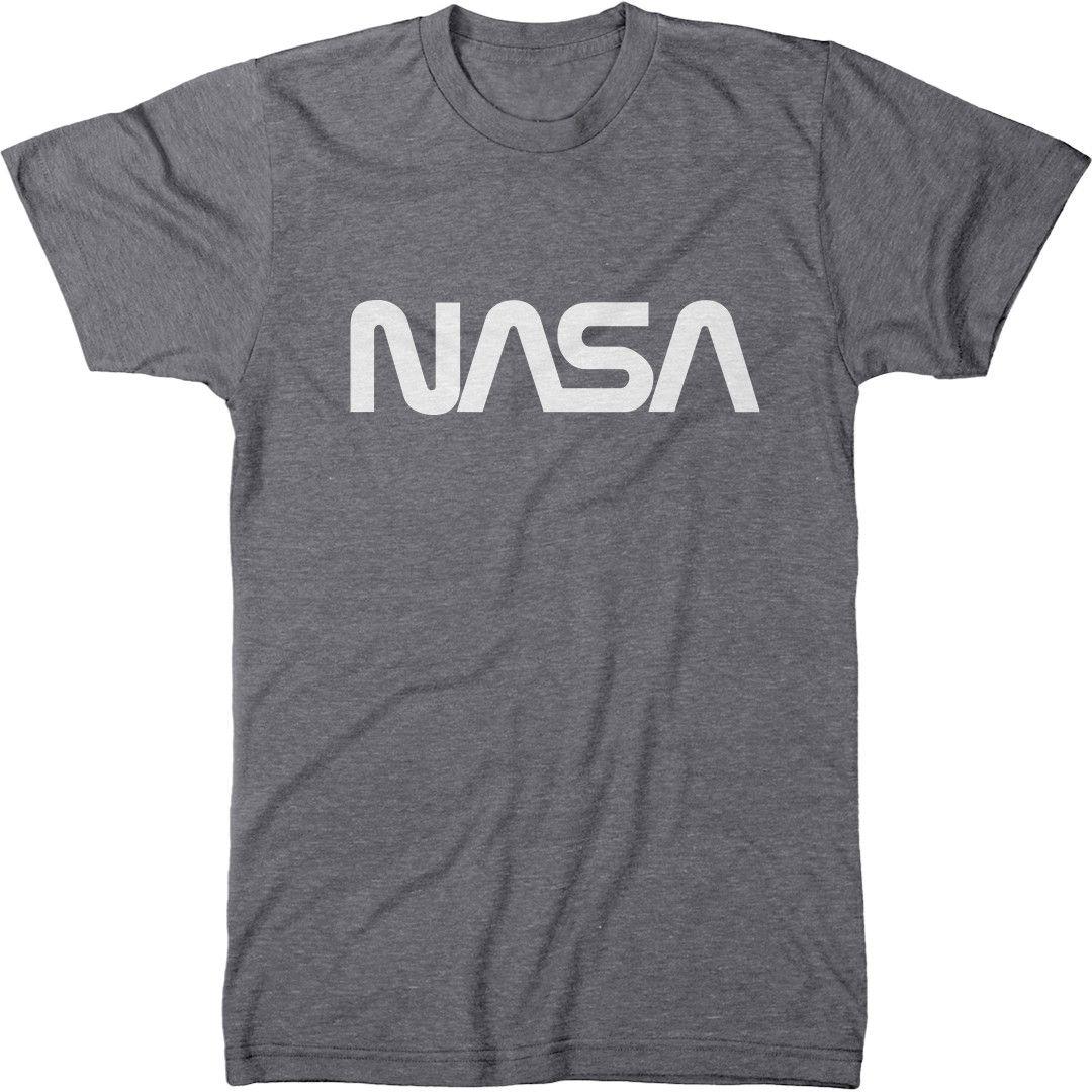 NASA White Worm Logo Men's Modern Fit TriBlend TShirt Mode