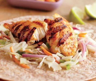 fish tacos with jalapeño slaw recipe | I love my food