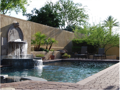 Arizona Backyard Landscaping Pool And Spas Central Arizona