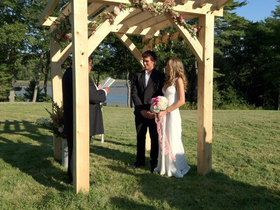Love This Arbor!! Timber Frame Outdoor Wedding And Garden