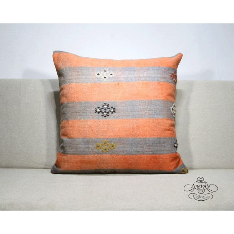 Attractive Orange Large Handmade Decorative Pillowcase Turkish Kilim Rug Pillow  Embroidered Living Room Decor Accent Cushion Cover Awesome Ideas