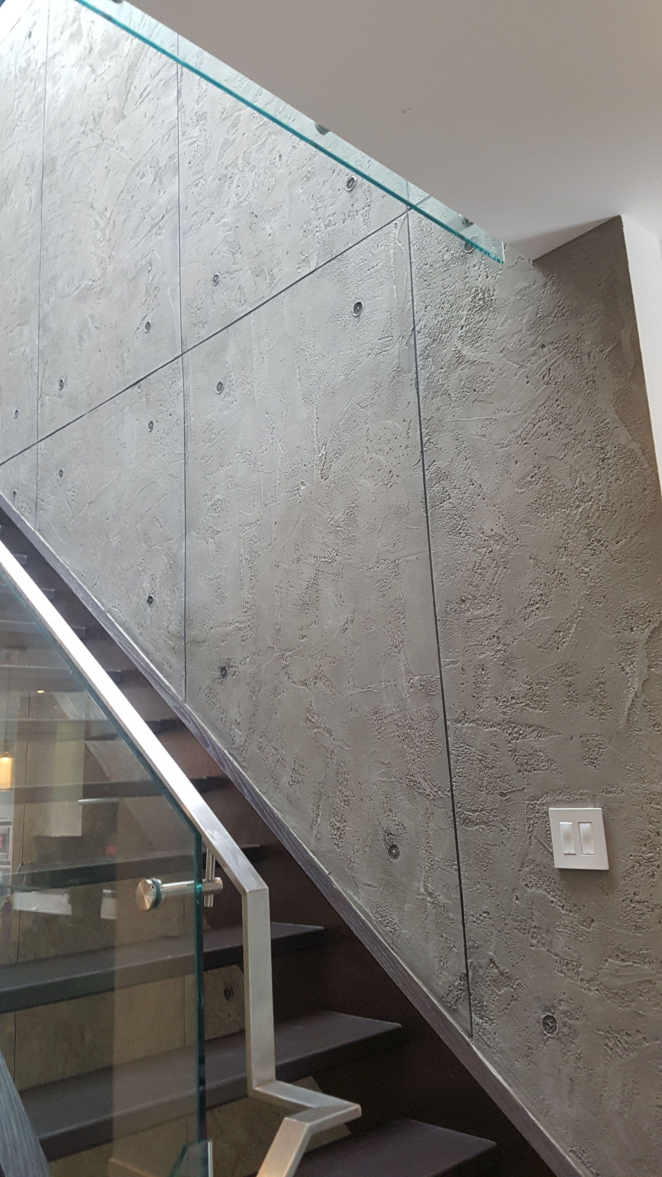Contemporary Staircase Design In 2020 Wall Texture Design Decorative Concrete Walls Custom Wall Design