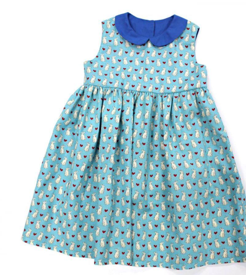 Kostenloses Schnittmuster Kinderkleid mit Peter Pan Kragen ...