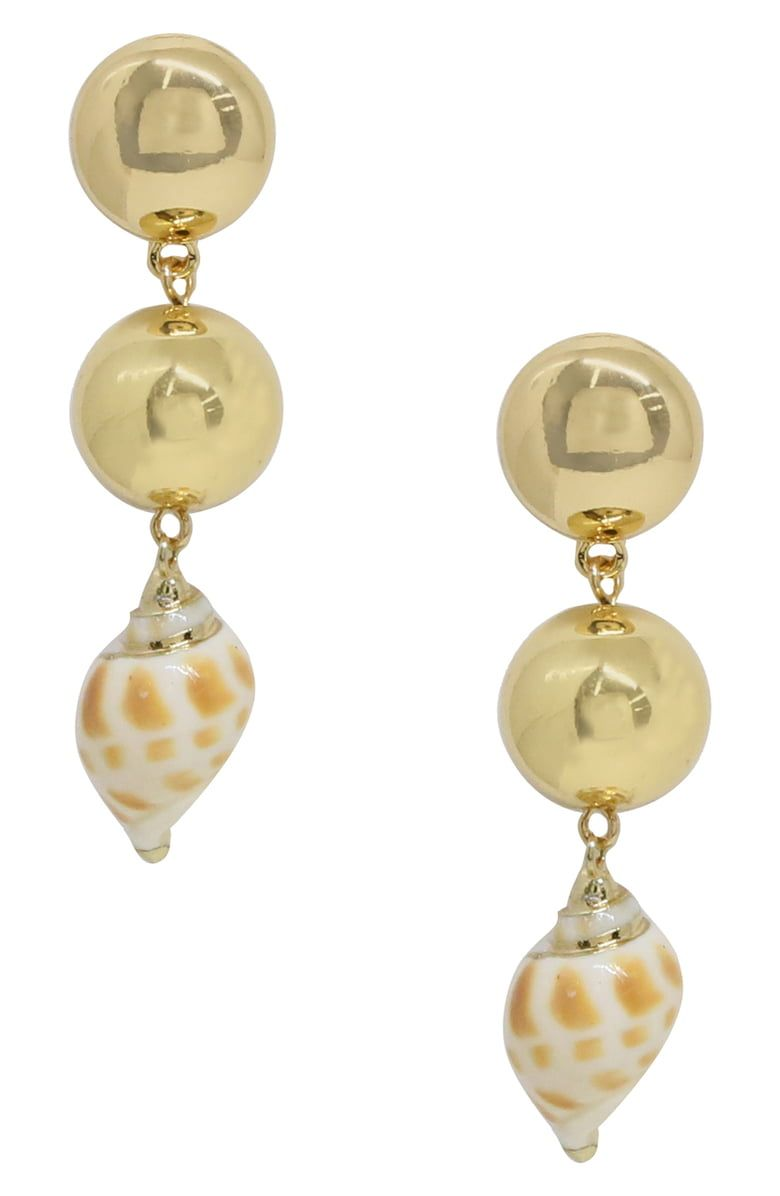 28150714b Free shipping and returns on Ettika Cowshell Drop Earrings at  Nordstrom.com. Gilded-