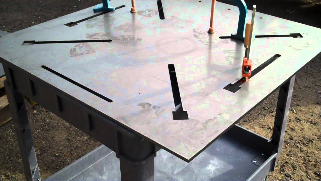 Welding Table Designs large homemade welding table Welding Table Designs Find This Pin And More On Welded Tools Tables Shop Modifications Of Quality
