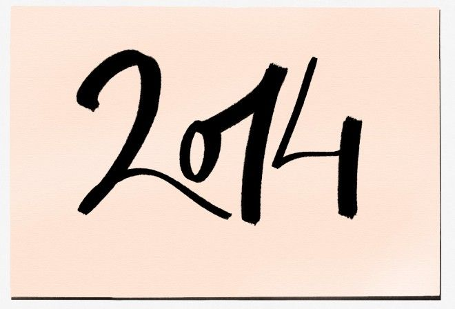 note: Happy New Year! Vive 2014! / Garance Doré ♡ her script.
