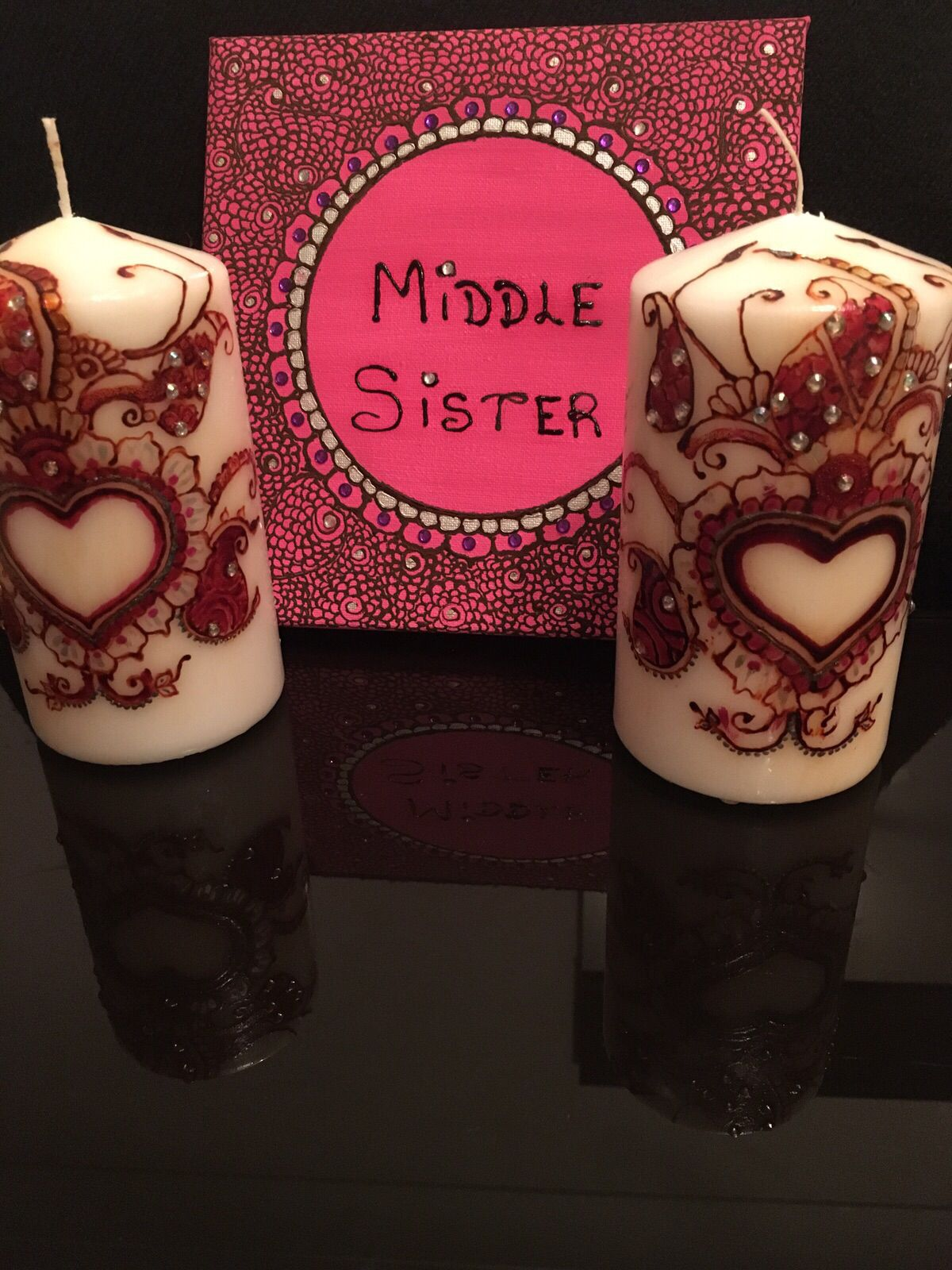 Hand Decorated Henna Candle Gift Sets 29 99 Henna Candle Sets