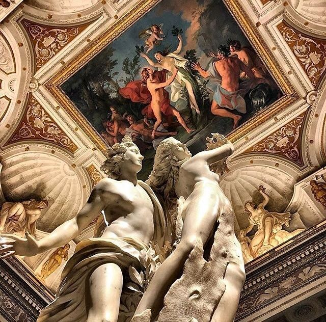 """""""Apollo and Daphne"""" by Bernini at Galleria Borghese (pic by @vittoria.sichetti via @museitaliani ) - This is a life-sized Baroque marble #sculpture by Italian artist Gian Lorenzo Bernini, executed between 1622 and 1625. Housed in @galleriaborgheseufficiale in Rome, the work depicts the climax of the story of Daphne and Phoebus in Ovid's Metamorphoses #art #italy #artcourse #studyabroad #arte #italia #scultura #escultura #studiainitalia #cursodearte #bernini #love #valentines #sanvalentino #..."""