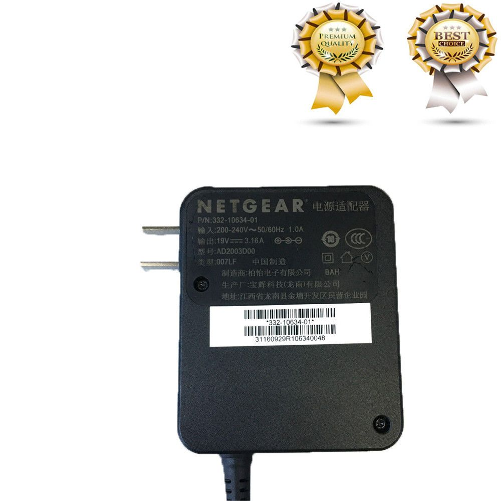 19V 3 16A AC Adapter Adaptor For NETGEAR Wifi Router R8500 R8000 X8