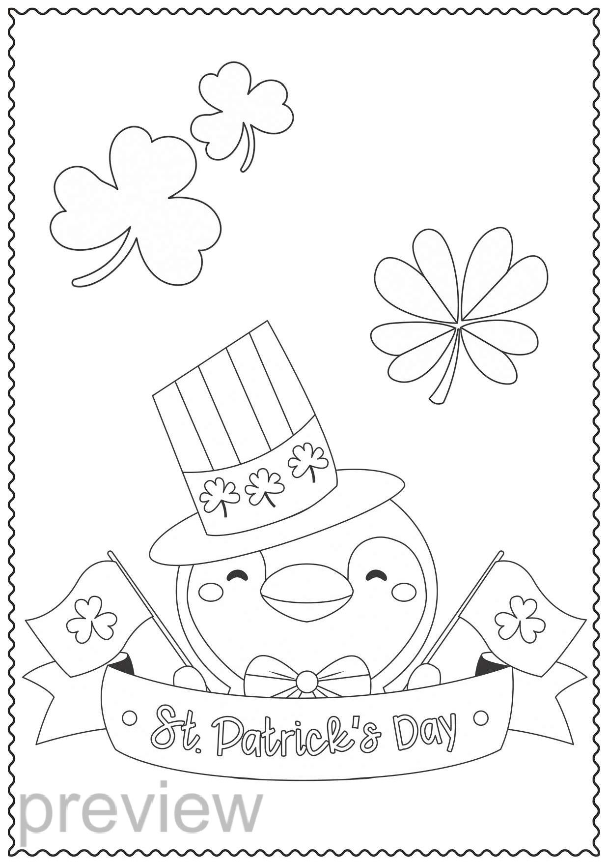 St Patrick S Day Coloring Pages For Kids St Patricks Day Etsy In 2021 Halloween Coloring Pages Coloring Pages Planet Coloring Pages [ 1755 x 1240 Pixel ]