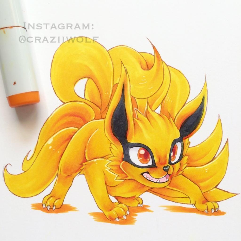 Kurama By Craziiwolf On Deviantart Naruto Desenho Raposas Desenho Desenhos De Fadas