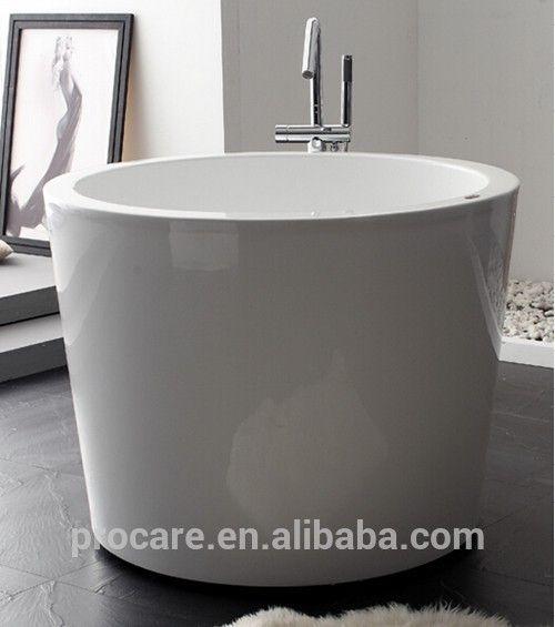 New Freestanding Seamless Modern Acrylic Bathtub 1100mm Round ...