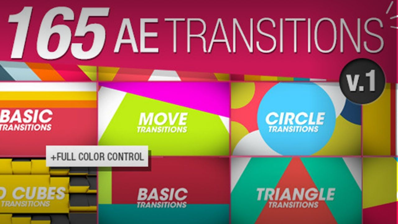 165 Transitions Pack V1 100 Free Template After Effects