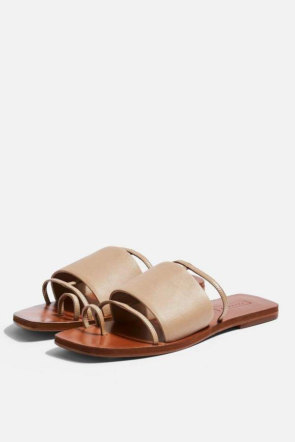 71344a35640c Topshop FORTUNE Nude Flat Sandals in 2019