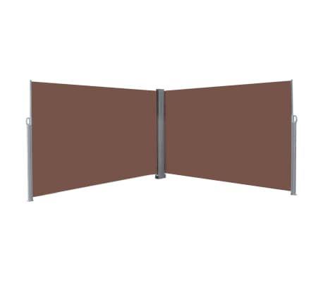 Ausziehbare Seitenmarkise 200x600 cm Braun Markise