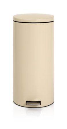 Brabantia Pedal Bin 30 Litre With Plastic Inner Bucket Almond Co Uk Kitchen Home