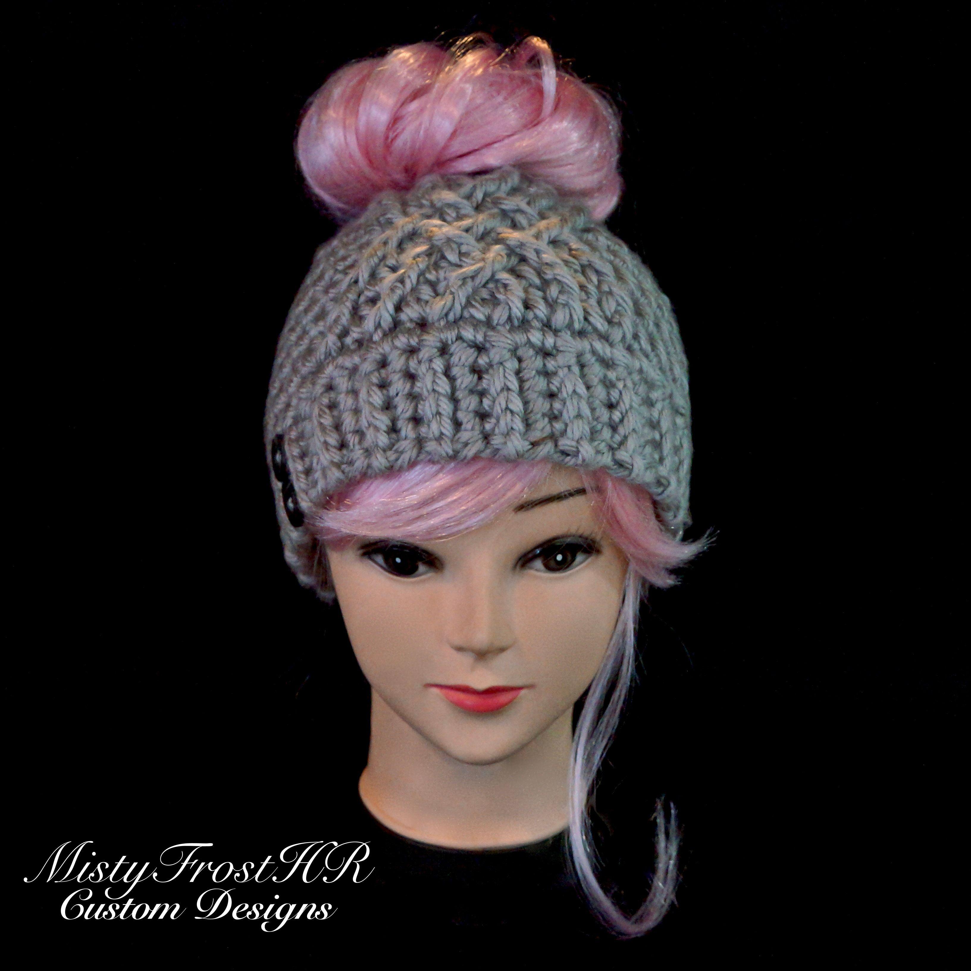Increíble Patrón De Crochet Calentador Del Oído Con El Botón Friso ...