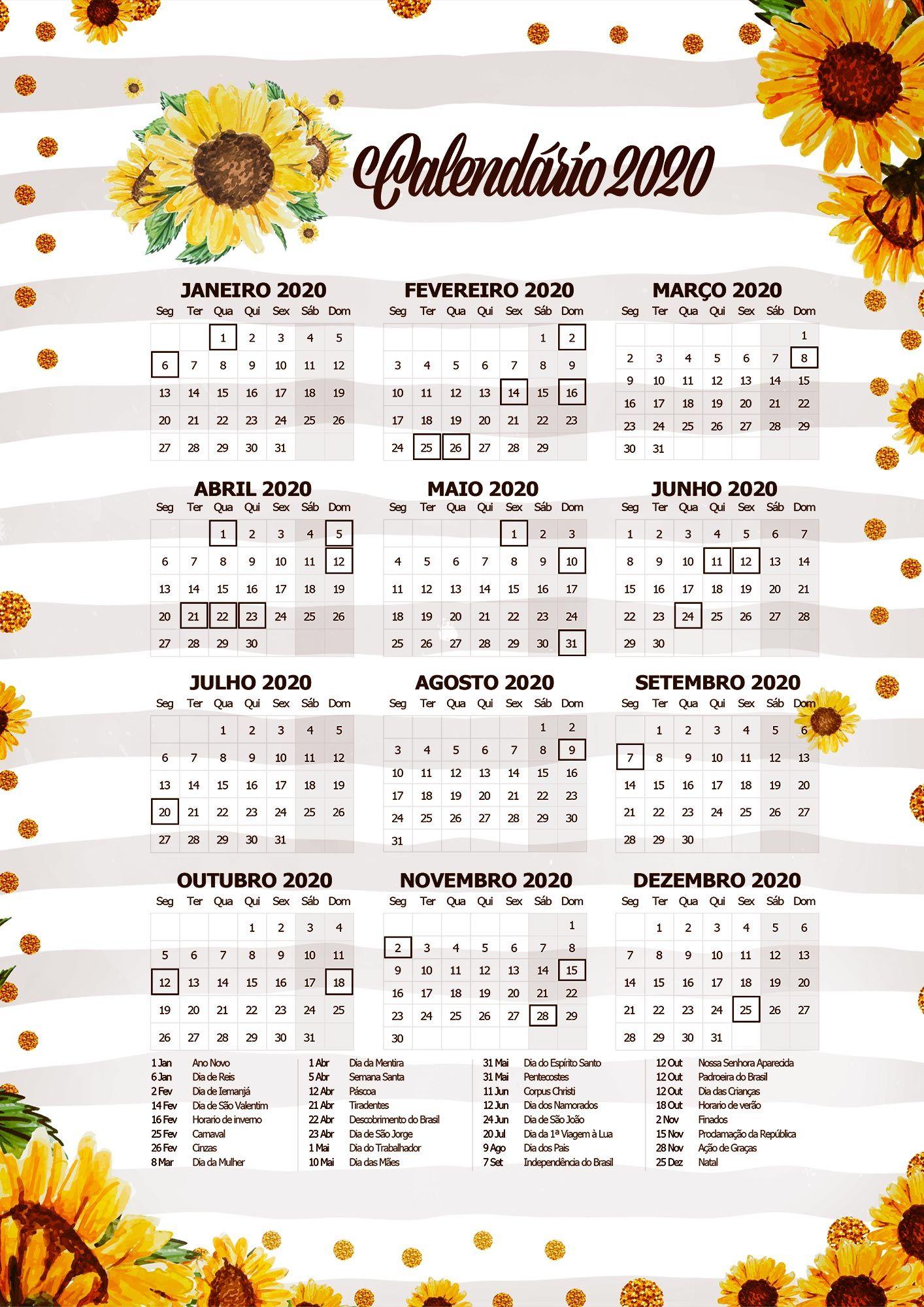 Planner Professor 2020 Para Imprimir Calendario Planner Blog