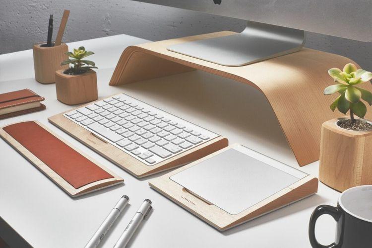 Schreibtisch Ablage Als Accessoire Fur Die Apple Tastatur Ablage Accessoire Apple Schreibtisch Tastatur Imac Desk Desk Accessories Mini Desk