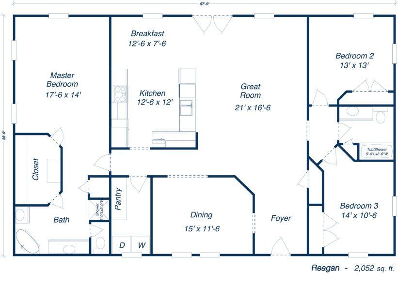 Steel Homes Houston Models Floor Plans Farmhouse Floor Plans Pole Barn House Plans Barndominium Floor Plans