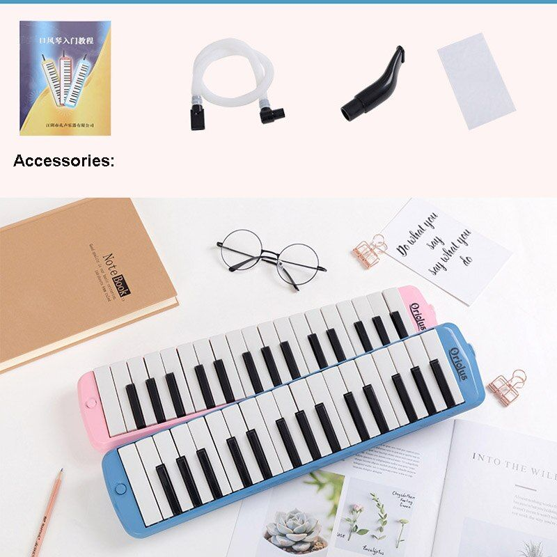 KONGSHENG 32 Keys Melodica Piano Keyboard Style w/ Hard Storage Case Mouth Organ  Children Students Musical Instrument Oriolus
