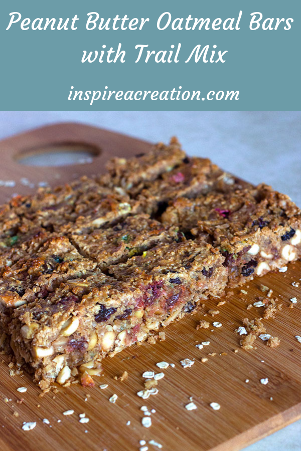 Peanut Butter Oatmeal Bars with Trail Mix