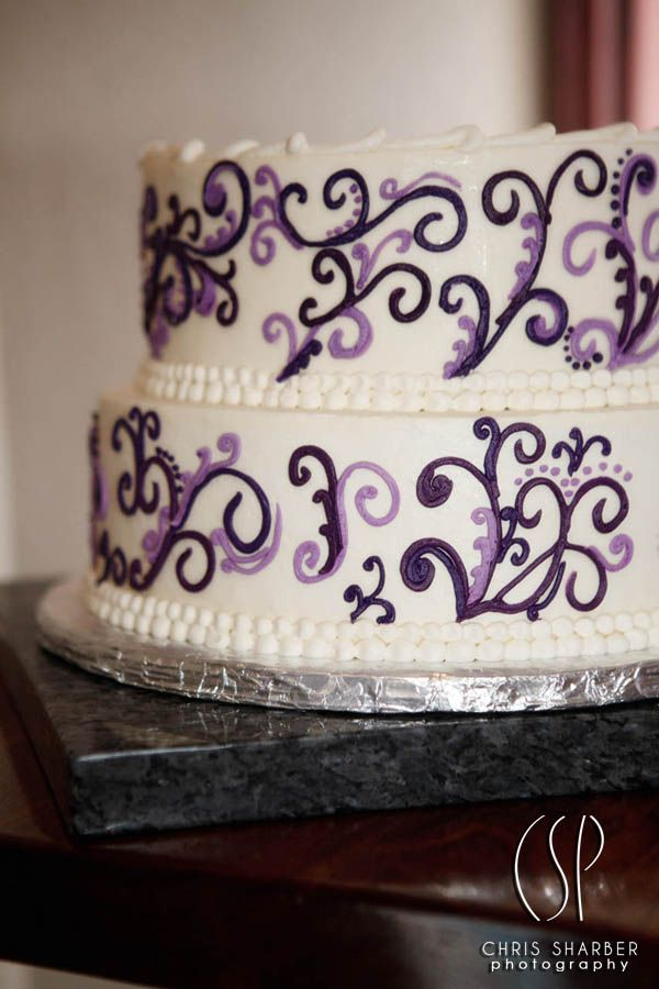 This Purple Scroll Wedding Cake Was From One Of Our Intimate Packages In Beaver Creek