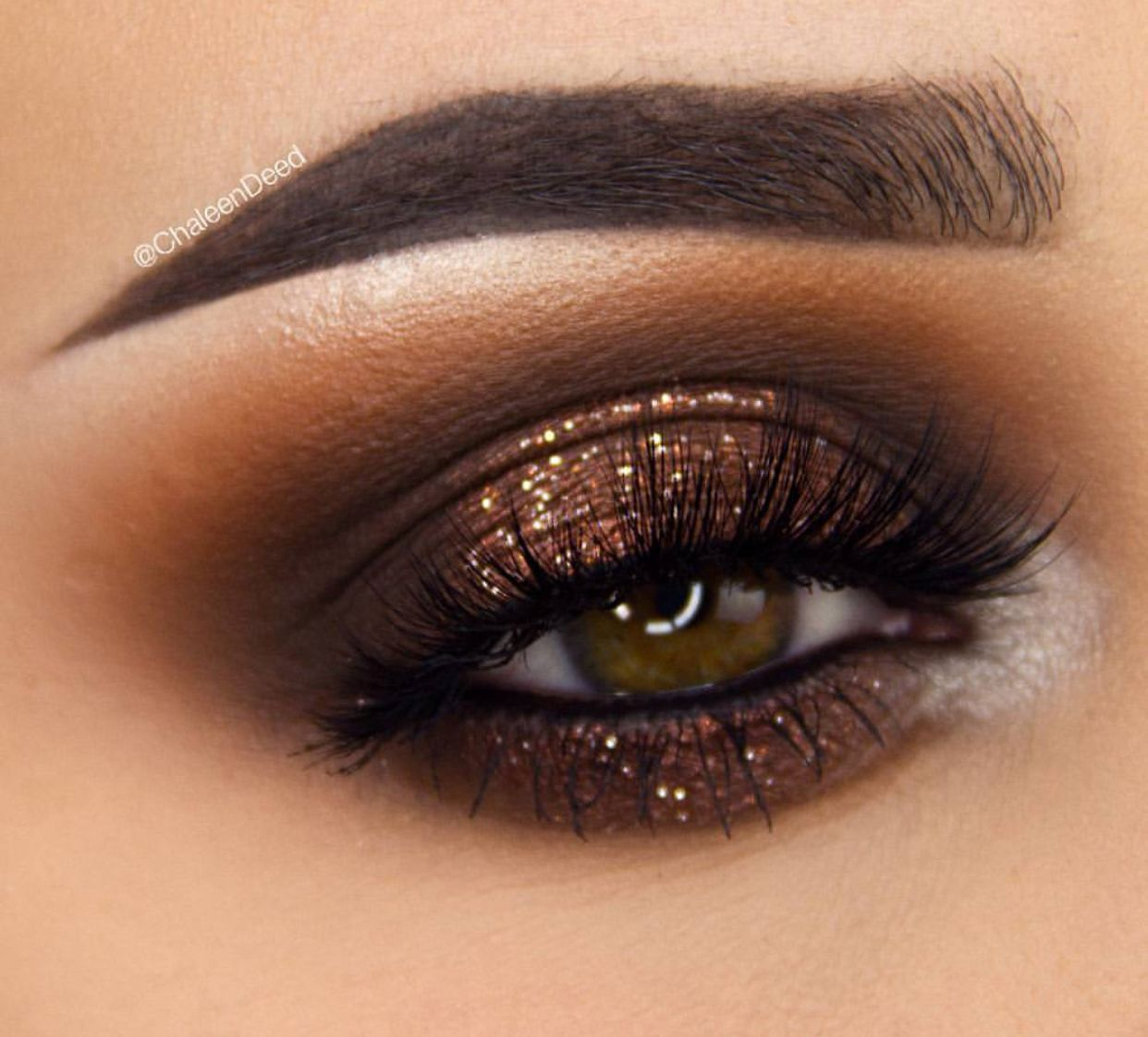 eyemakeupparty eyeshadow brown fall lookBrown fall