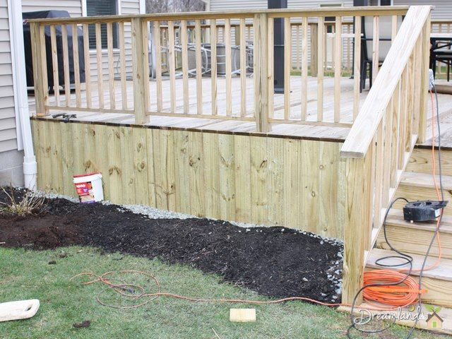 Easy Diy Pressure Treated Wood Deck Skirting Ideas In 4 Days Deck Skirting Treated Wood Deck Diy Porch