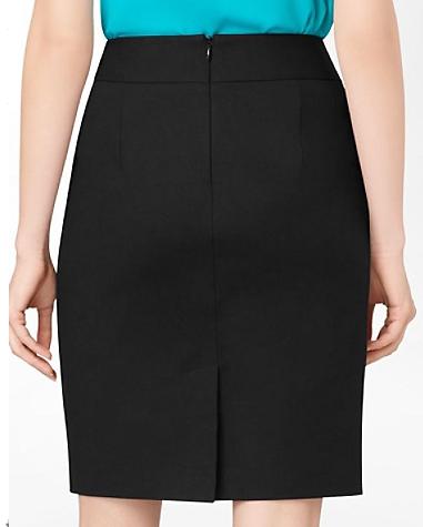 50832b5a1 Como hacer una falda lápiz con prense   outits para mujeres bajitas ...