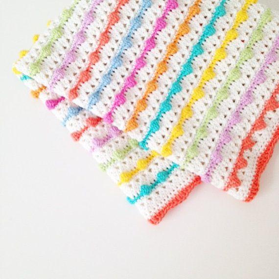 Crochet Bobble Stitch Blanket Pattern | almohadon | Pinterest | Para ...