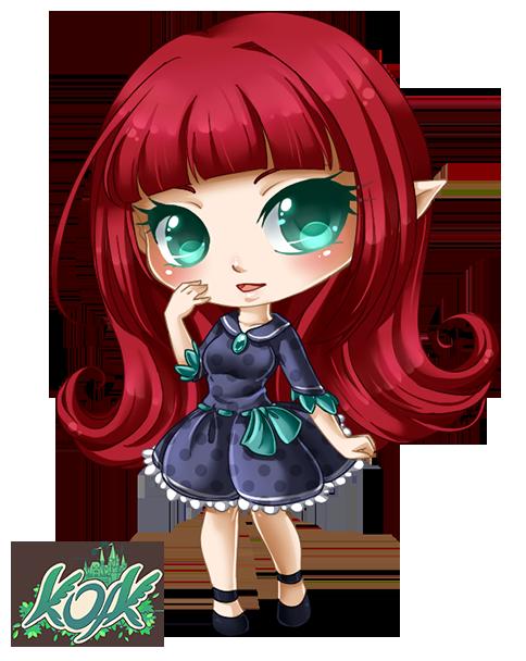 Cute Chibi Manga Elf Girl www.kofk.de Free Avatar and