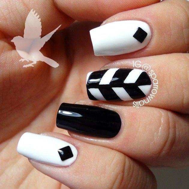 16 diseños de uñas en blanco y negro | makeup