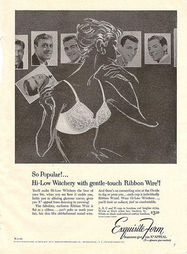 1950s exquisite form bra ad