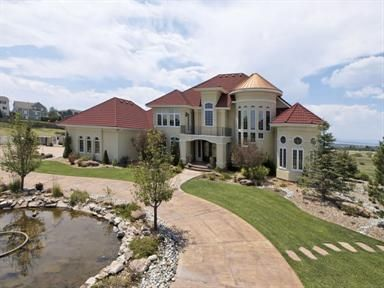 Circular Drive around a pond - Parker CO Luxury Home