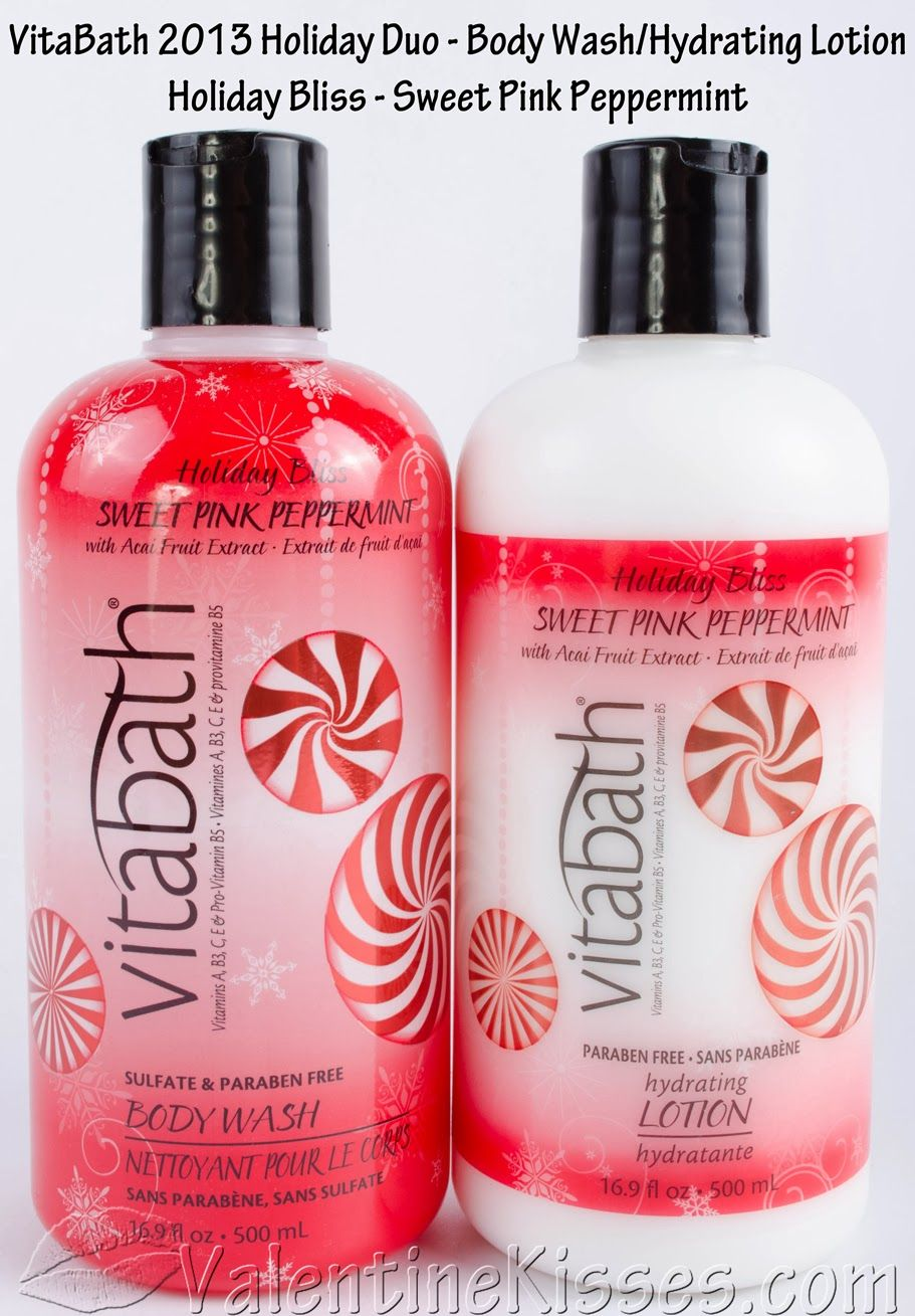 Valentine Kisses: VitaBath Holiday Duo in Sweet Pink Peppermint ...