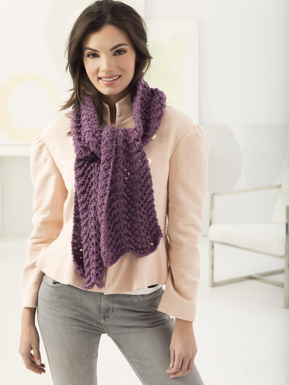 Lacy Scarf (Knit) | Knit patterns | Pinterest | Scarves, Knit ...