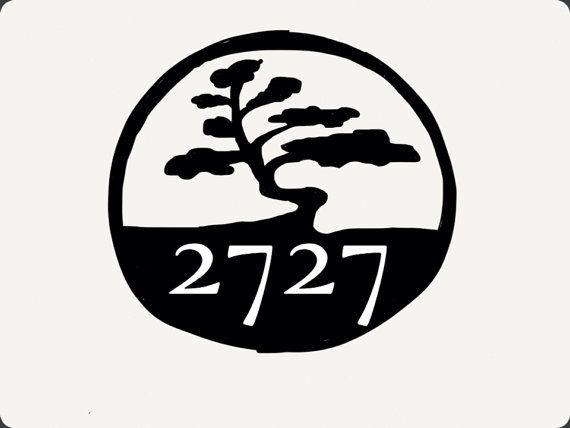 Bonsai House Number / Tree House Number / Custom House Number / Custom Metal Work