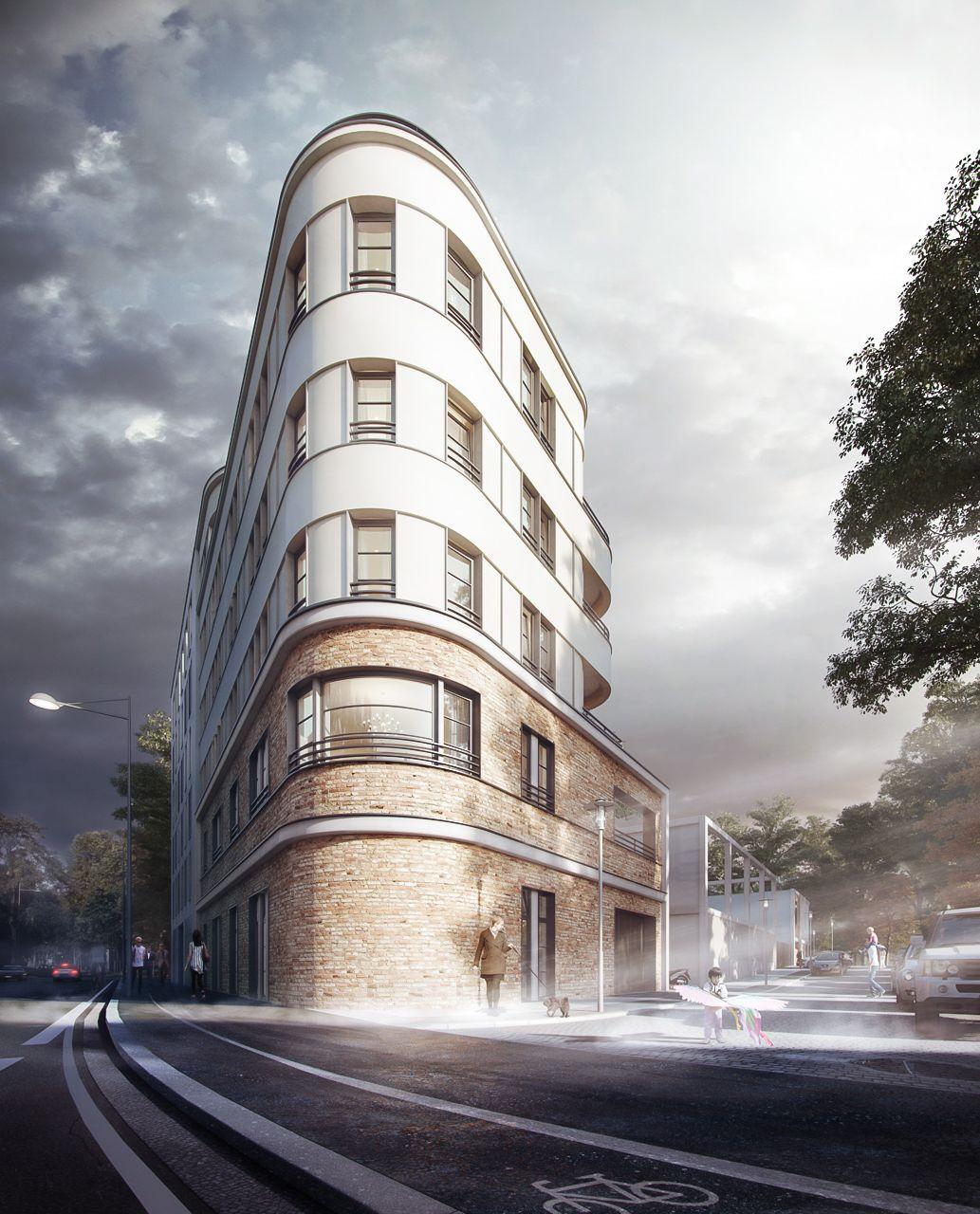 Architekten In Leipzig architekturvisualisierung eines mehrfamilienhauses in der