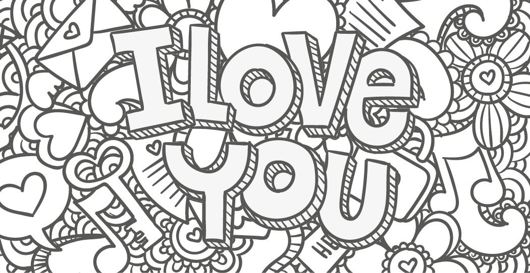 Coloriage Gratuit I Love You 2 Mai Learning The Ropes Valentine