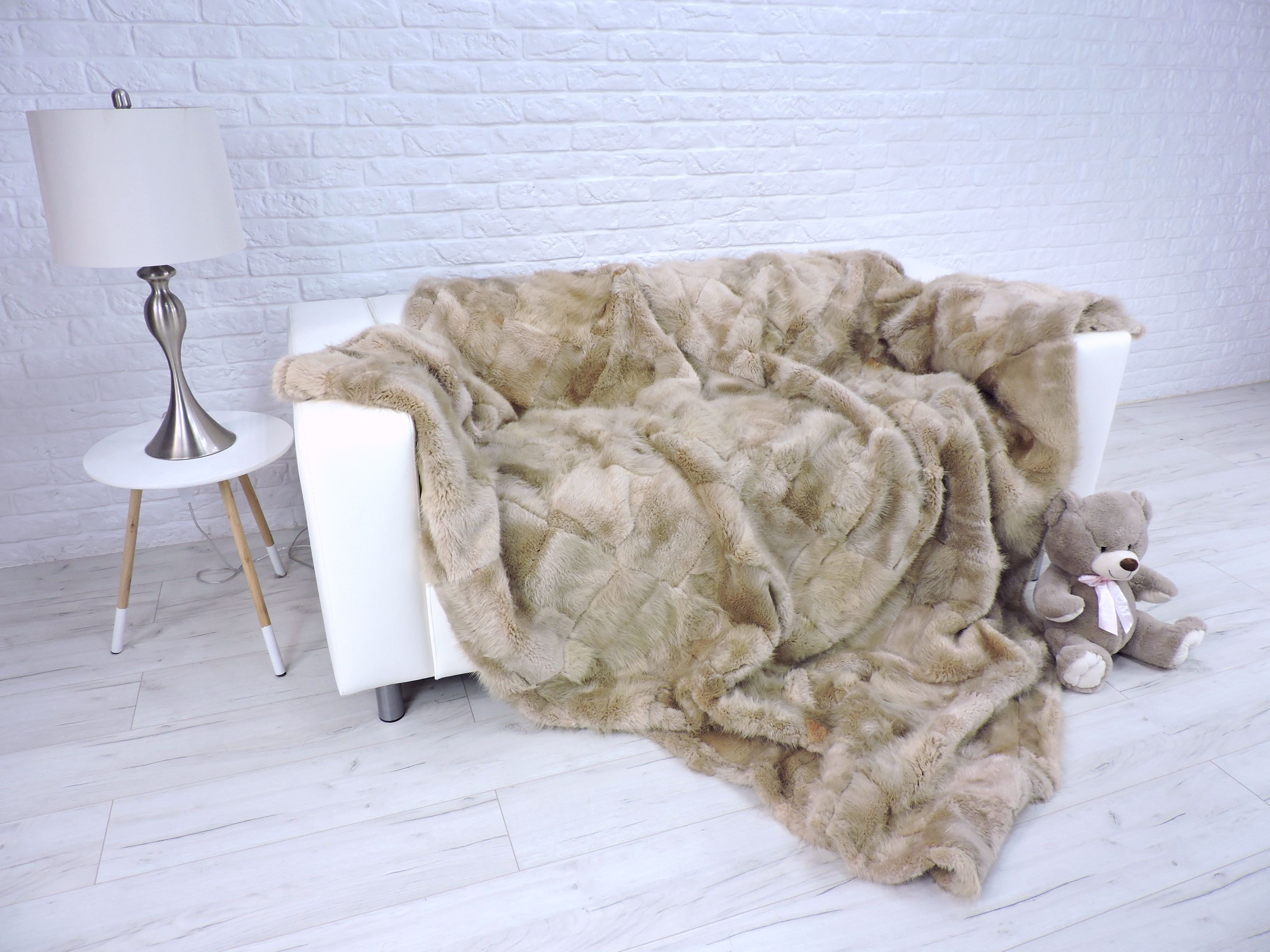 Luxury Real Beaver Fur Blanket Fur Throw Light Beige Fur Rug Sofa Cover Sofa Cover Home Decor King Size Blanket 310 In 2020 Fur Blanket Blanket King Size Blanket
