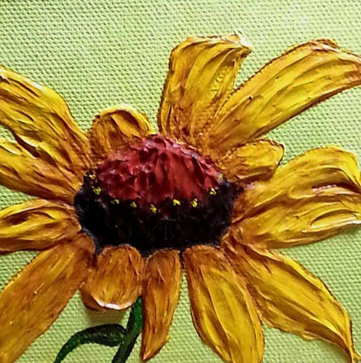 Yellow Cone,Fine Art Print, Signed Macro,4 X 4,Cubicle Art,Impressionism,Hostess