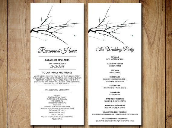 winter wedding program template download winter wonderland wedding