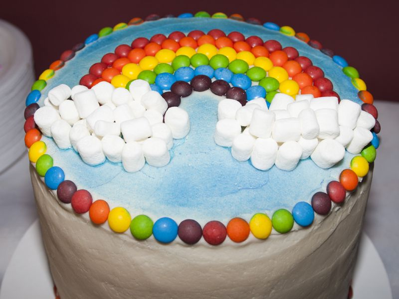 Rainbow Wishes Party With Images Rainbow Birthday Cake Cake