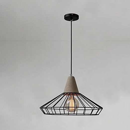 Design/Moderne/1 Schirme Hängeleuchte/Beton Hängelampe ...