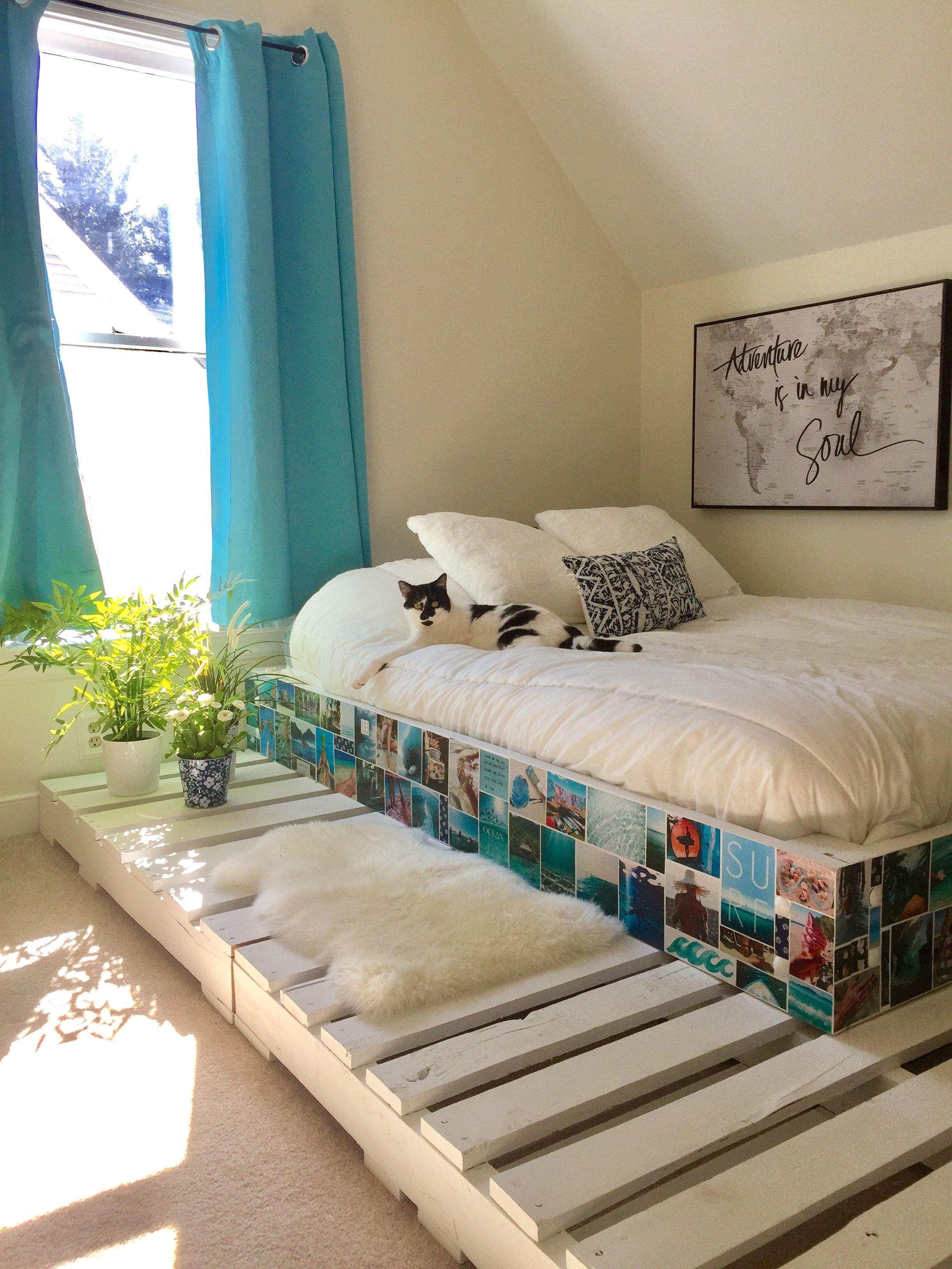 Bedroom Ideas Wooden Pallet Bed Frame Painted Diy Pallet Bed Pallet Bed Frames Diy Pallet Bed Wooden Pallet Beds